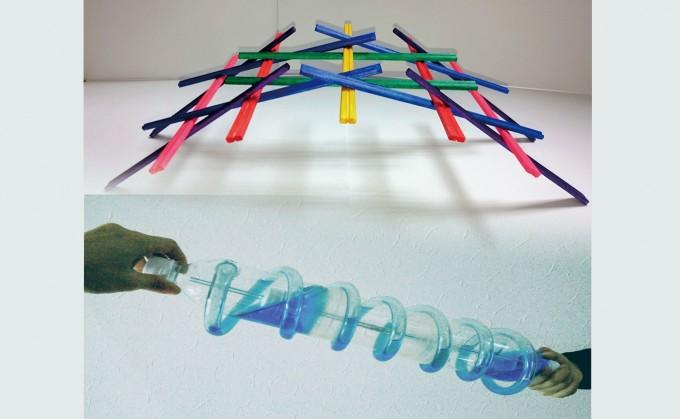 親子科学ワークショップ「昔の科学者に挑戦!レオナルドの橋とアルキメデスポンプを作ろう。」