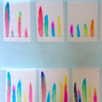 親子ワークショップ 「水性ペンの色を分けてみよう!」